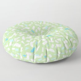 Semblance in green Floor Pillow