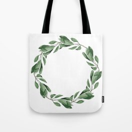 Cherry leaves wreath Tote Bag