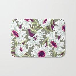Teteaweka Daisy Floral Print Bath Mat