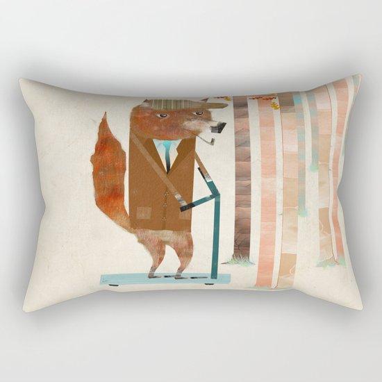 the eccentric mr fox Rectangular Pillow