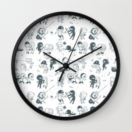 Pop Culture Clash Wall Clock