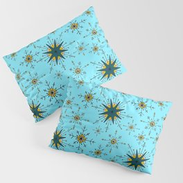 Winter Wonderland in Mustard, Teal, and Blue Pillow Sham