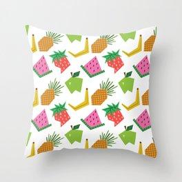 Fruit Print Throw Pillow