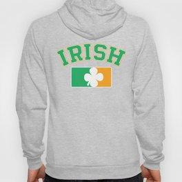 Irish Flag Shamrock Vintage Funny St. Patrick_s Day Hoody