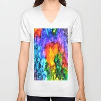 karma V-neck T-shirts featuring Karma by Claire Day
