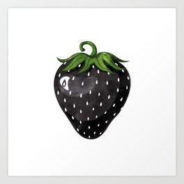 Black Strawberry Art Print