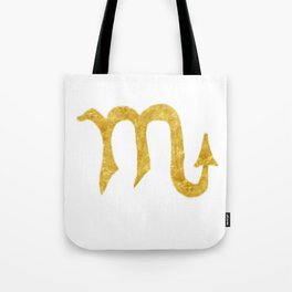 Scorpio Zodiac Sign Tote Bag