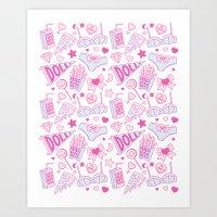girl power Art Prints featuring Girl Power by Jade Boylan