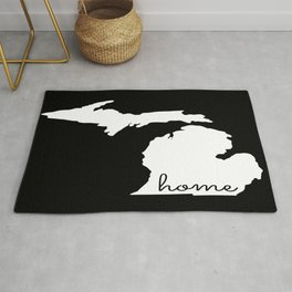 Michigan Home State Map Gifts Rug