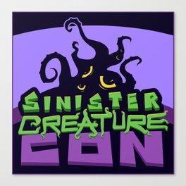Sinsiter Creature Con Square Logo Canvas Print