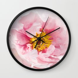 Pink Peony | Flower Photography |  Pink Floral | Botanical | Flowers | Nature Wall Clock