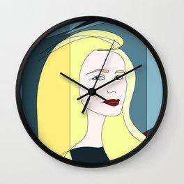 Euphoria Jaune Blonde Woman Hair Abstract Portrait Wall Clock