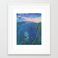 marley Framed Art Prints featuring Marley by sarah