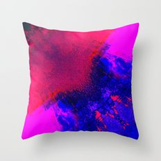 02-14-36 (Red Blue Glitch) Throw Pillow