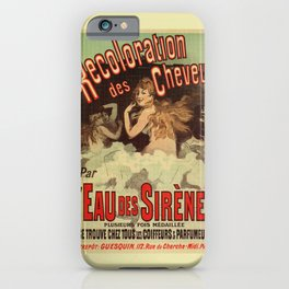 Mermaid water for hairdressers iPhone Case