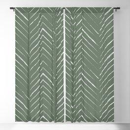 Olive Green Geometric Arrows Blackout Curtain