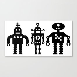 Three Robots by Bruce Gray Canvas Print