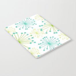 Mid Century Floral Pattern Notebook