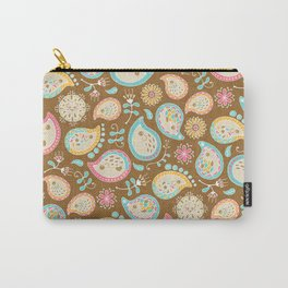 Hedgehog Paisley - Colors and Cocoa Carry-All Pouch