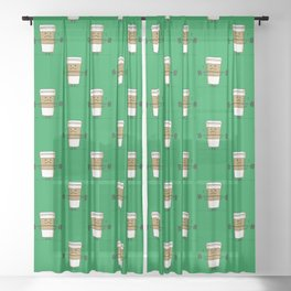 Strong Coffee Sheer Curtain