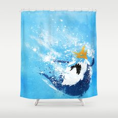 Why did you eat my fries? Shower Curtain