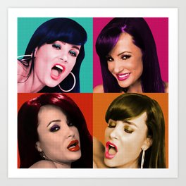 Retro Lisa Ann Art Print