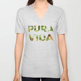 Pura Vida Costa Rica Palm Trees Unisex V-Neck