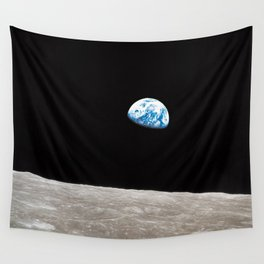Earthrise William Anders Wall Tapestry
