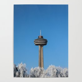winter skylon tower Poster