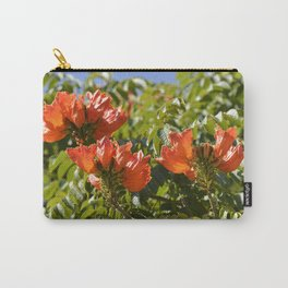 """""""Flaming-red Peacock (ii)"""" by ICA PAVON Carry-All Pouch"""