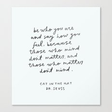 cat in the hat Canvas Print