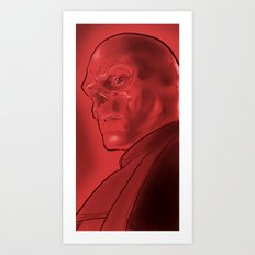 The Red Skull Art Print