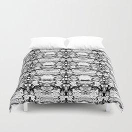 Modern Bohemian Black and White Pattern Duvet Cover