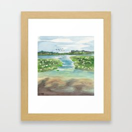 Green Lake in June Framed Art Print
