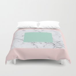 Marble with Pastels /// www.pencilmeinstationery.com Duvet Cover