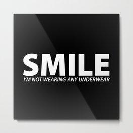 Smile [WHITE] Metal Print