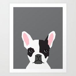 Parker - French Bulldog animal art modern colors for dog people Art Print