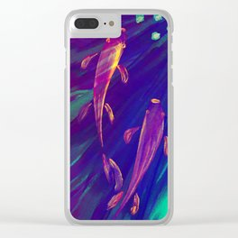 Traveling Together Clear iPhone Case