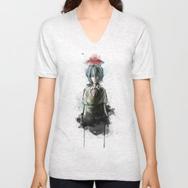 Ayanami Rei Evangelion Character Digital Painting Unisex V-Neck