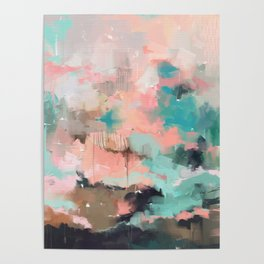 Abstract art of strokes Poster