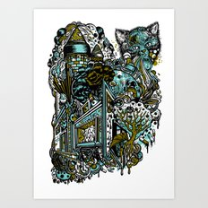 The Castle Of Doom and Sugar Art Print