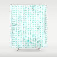 starwars Shower Curtains featuring StarWars icon by SUSANNA CONTOLI