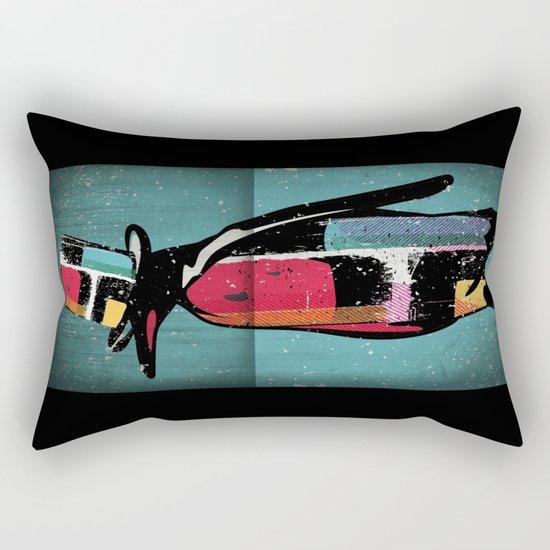 Penguin Illustration Rectangular Pillow