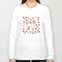 karu kara Long Sleeve T-shirts featuring JARDIN DE L'AMOUR by Daisy Beatrice
