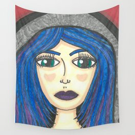 Fur Hooded Girl Wall Tapestry