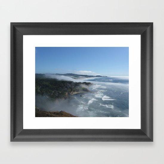 Fog Rolling In Framed Art Print