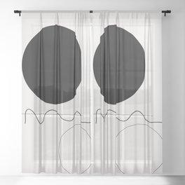 Abstract 07 Sheer Curtain