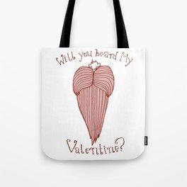 Will You Beard My Valentine? Tote Bag