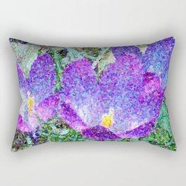 Purple Crocus Mosaic Rectangular Pillow