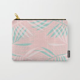Palm Leaves Lace on blush Carry-All Pouch